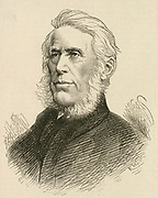 'Joseph Pease (1799-1872) English railway pioneer including Stockton and Darlington Railway, colliery owner. First Quaker Member of Parliament, 1832, supporter of the anti-slavery movement.   Engraving.'