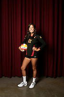 10 August 2010:  #12 Kendall Bateman Setter  on the Pac-10 NCAA College Women's Volleyball team for the USC Trojans Women of Troy photographed at the Galen Center on Campus in Southern California. .Images are for Personal use only.  No Model Release, No Property Release, No Commercial 3rd Party use. .Photo Credit should read: ©2010ShellyCastellano.com