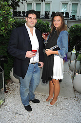 ZAFAR RUSHDIE and LADY NATASHA RUFUS-ISAACS at the Tatler Summer Party, The Hempel Hotel, 31-35 Craven Hill Gardens, London W2 on 25th June 2008.<br />