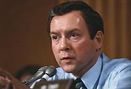 Senator Orrin Hatch at a senate hearing in March 1981<br />Photo by Dennis Brack