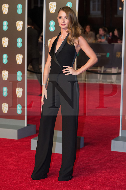 © Licensed to London News Pictures. 18/02/2018. MILLIE MACKINTOSH arrives on the red carpet for the EE British Academy Film Awards 2018, held at the Royal Albert Hall, London, UK. Photo credit: Ray Tang/LNP