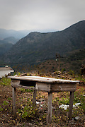 Abandoned table, Polyrinia, Crete
