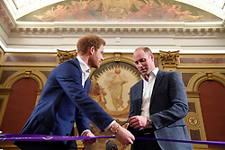 The Duke of Cambridge (right) and Prince Harry open the Greenhouse Centre in London.