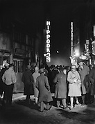 Film Scene Representing Outdoors at Night, Urban Location with City Lights, 1928
