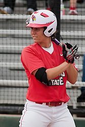15 April 2012:  Lizzie Andrews during an NCAA women's softball game between the Drake Bulldogs and the Illinois State Redbirds on Marian Kneer Field in Normal IL