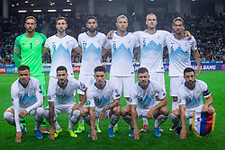 Slovenian national team during the 2020 UEFA European Championships group G qualifying match between Slovenia and Israel at SRC Stozice on September 9, 2019 in Ljubljana, Slovenia. Photo by Grega Valancic / Sportida