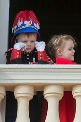 Princes Jacques and Gabriella of Monaco, Kaya Rose Wittstock, India Casiraghi are attending the military procession held in the Palace Square, during the National Day ceremonies, Monaco Ville (Principality of Monaco), on november 19th, 2019. Photo by Marco Piovanotto/ABACAPRESS.COM