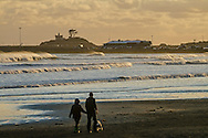 Battery Point Lighthouse seen from Crescent Beach, Crescent City, Del Norte County, California