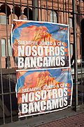 Sign up for political action demonstration outside Casa Rosada - Argentina's Parliament, Buenos Aires, Argentina.