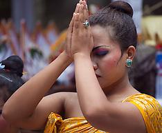 Balinese Temple Ceremony, Bedulu, Bali