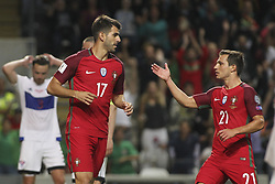 August 31, 2017 - Porto, Porto, Portugal - Portugal's forward Nelson Oliveira celebrates after scoring goal with Portugal's defender Cedric (R) during the FIFA World Cup Russia 2018 qualifier match between Portugal and Faroe Islands at Bessa Sec XXI Stadium on August 31, 2017 in Porto, Portugal. (Credit Image: © Dpi/NurPhoto via ZUMA Press)