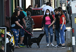 © Licensed to London News Pictures. 17/09/2020. Rhondda Valley, UK. People pictured out and about in the town of Treorchy in the Rhondda Valley which will go into local lockdown today after a spike in the coronavirus infection rate in the borough of Rhondda Cynon Taff in south Wales.. Photo credit: Robert Melen/LNP