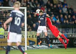 Falkirk's Rory Loy scoring their goal. Falkirk 1 v 1 Rangers, Scottish Championship game played 27/2/2014 at The Falkirk Stadium .