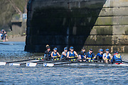 Mortlake/Chiswick, GREATER LONDON. United Kingdom. Sons of the Thames, W.MasA.8+, competing at the 2017 Vesta Veterans Head of the River Race, The Championship Course, Putney to Mortlake on the River Thames.<br /> <br /> <br /> Sunday  26/03/2017<br /> <br /> [Mandatory Credit; Peter SPURRIER/Intersport Images]