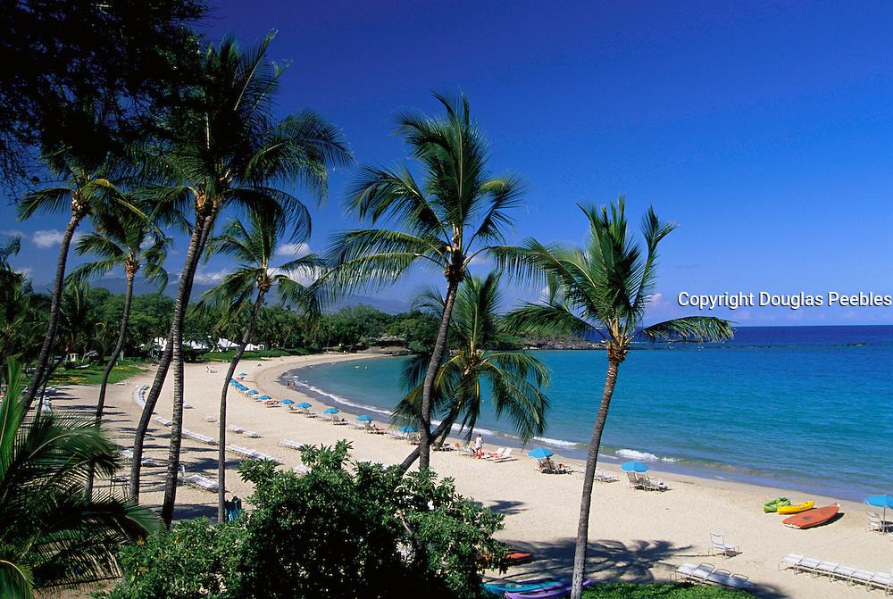 Kauna'oa Beach, Mauna Kea Beach Hotel, Island of Hawaii, Hawaii, USA<br />