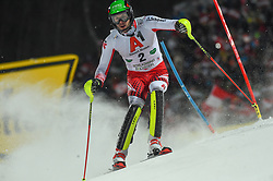 "29.01.2019, Planai, Schladming, AUT, FIS Weltcup Ski Alpin, Slalom, Herren, 1. Lauf, im Bild Michael Matt (AUT) // Michael Matt of Austria in action during his 1st run of men's Slalom ""the Nightrace"" of FIS ski alpine world cup at the Planai in Schladming, Austria on 2019/01/29. EXPA Pictures © 2019, PhotoCredit: EXPA/ Erich Spiess"
