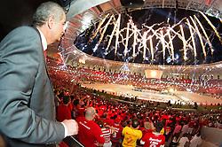 Presidente Giovanni Luigi na Festa Gigante - Reinauguração do Beira-Rio, neste sábado 05 de abril de 2014. O estádio Beira Rio receberá os jogos da Copa do Mundo de Futebol 2014. FOTO: Alexandre Lops/ Inter/ Agência Preview