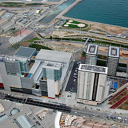 Aerial view of the Centre Conventions, Barcelona Spain
