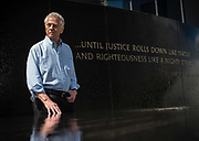 MONTGOMERY, AL -- 5/25/17 -- Even at age 80, Morris Dees still comes into the office daily. The attorney has made a career taking down racist organizations and hate groups over the years, and has created an infrastructure to continue that work well into the future. Dees stands in front of the Civil Rights Memorial, commissioned by the SPLC and dedicated in 1989,<br /> Civil Rights attorney Morris Dees co-founded the Southern Poverty Law Center in 1971. The group has taken on the Ku Klux Klan and fought for against hate for decades, but is now facing criticism that it has labeled some groups without just cause..…by André Chung #_AC29889