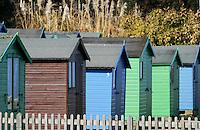 beach huts at bembridge
