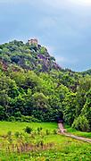 Ruiny zamku książęcego na górze Chojnik, Poland<br /> Ruins of the prince's castle on the Chojnik mount, Poland