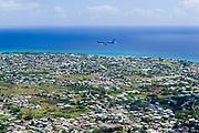 Aircraft on landing approach, Christchurch, Barbados