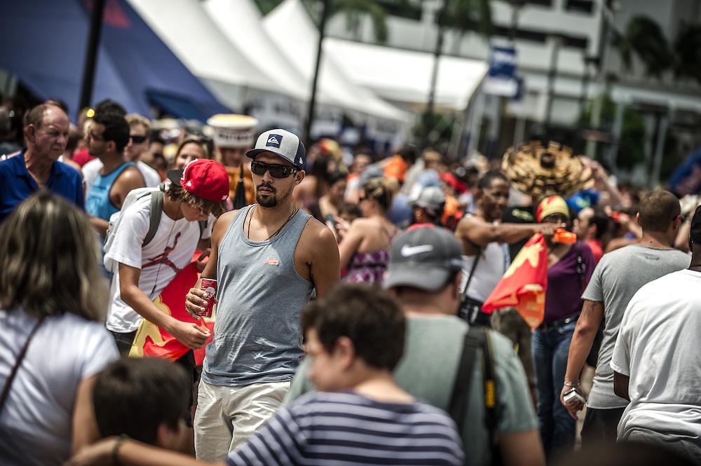 Spectator seen the Red Bull Flugtag in Miami, FL, USA, on 21 September 2013.