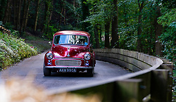 Boness Revival hillclimb motorsport event in Boness, Scotland, UK. The 2019 Bo'ness Revival Classic and Hillclimb, Scotland's first purpose-built motorsport venue, it marked 60 years since double Formula 1 World Champion Jim Clark competed here.  It took place Saturday 31 August and Sunday 1 September 2019. 36 Leslie Ann Soutar Morris Minor