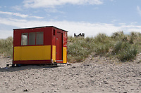lifeguards hut on the beach at Inis Oirr the Aran Islands in Galway Ireland