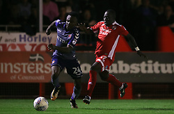Charlton Athletic's Regan Charles-Cook (left) and Crawley Town's Kaby Djalo battle for the ball