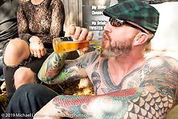 Joe Lingley at the Joe Lingley at the Chopper Time annual old school chopper show at Willie's Tropical Tattoo in Ormond Beach during Daytona Beach Bike Week, FL. USA. Thursday, March 14, 2019. Photography ©2019 Michael Lichter.