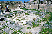 Prehistoric archaeological site at Ugarit, Syria in 1998 - diplomatic hall with pool