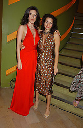 Left to right, actress JAIME MURRAY and LAUREN KEMP at a fashion show by ISSA held at Cocoon, 65 Regent Street, London on 21st September 2005.<br />