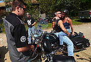 The not-so-quiet corner of the Quiet Corner: A scene from a biker rally along route 6 at a place called the Bach Dor Cafe in Chaplin, Connecticut, Sunday, May 18, 2003.