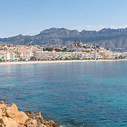 Skyline of Altea from the Marina. Alicante, Spain.