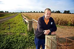 Graeme Rees in the Western Treatment Plant Agricultural fields, maize fields.