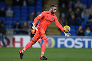 Allan McGregor , the Hull city goalkeeper in action. EFL Skybet championship match, Cardiff city v Hull city at the Cardiff city stadium in Cardiff, South Wales on Saturday 16th December 2017.<br /> pic by Andrew Orchard, Andrew Orchard sports photography.
