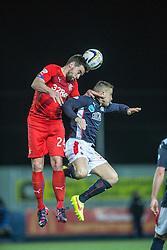 Rangers Derek McGregor and Falkirk's Baird. Falkirk 1 v 1 Rangers, Scottish Championship game played 27/2/2014 at The Falkirk Stadium .