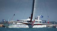 The Artemis Challenge at Aberdeen Asset Management Cowes Week 2014. <br /> Prince de Bretagne - skippered by Lionel Lemonchois (FRA)<br /> FREE for editorial use. Credit: Lloyd Images