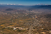 Aerial view the Valley of Oaxaca November 6, 2013 in Oaxaca, Mexico