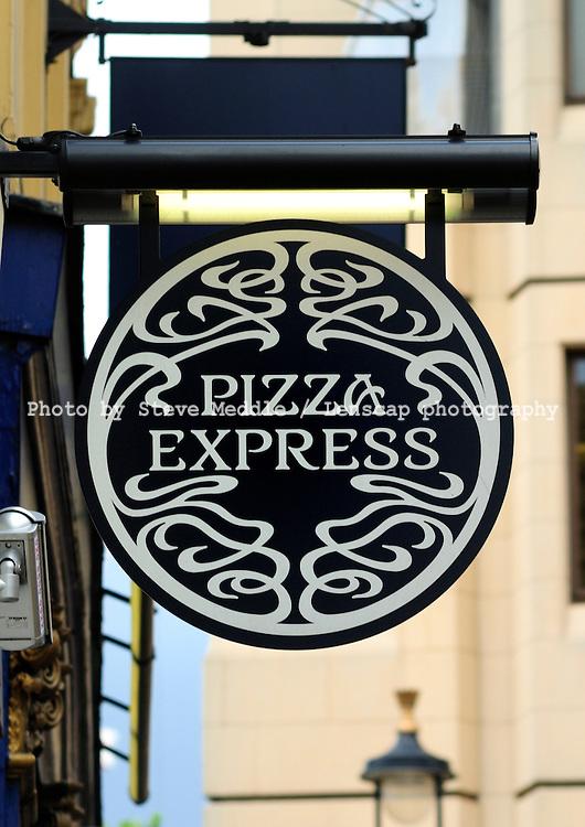 Pizza Express Restaurant Sign