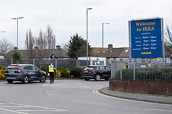 © Licensed to London News Pictures. 31/03/2020. London, UK. A drive-through Covid-19 testing facility NHS staff members at IKEA Wembley . The facility is only available to NHS staff members. Photo credit: Ray Tang/LNP