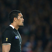 Jerone Kaino, New Zealand,  during the New Zealand V France Final at the IRB Rugby World Cup tournament, Eden Park, Auckland, New Zealand. 23rd October 2011. Photo Tim Clayton...