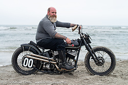 Myles Atherton of New Fairfield CT on his 1947 Harley-Davidson Model U Flathead at TROG (The Race Of Gentlemen). Wildwood, NJ. USA. Saturday June 9, 2018. Photography ©2018 Michael Lichter.