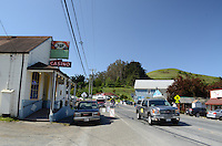 Bodega, Sonoma County, California, USA, town, village, famous because film director, Alfred Hitchcock, shot location scenes for his movie, The Birds, in the town's Roman Catholic Church of St Teresa of Avila. 201304292000<br />