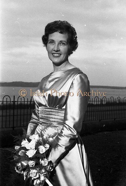 08/10/1959<br /> 10/08/1959<br /> 08 October 1959<br /> Wedding:Kenny - Colgan  (Muriel? and Tommy) at Church of St. Vincent de Paul, Griffith Avenue and the Grand Hotel, Malahide, Dublin. The Bride at the Hotel.