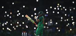 April 6, 2017 - Colombo, Sri Lanka - Bangladesh's Shakib Al Hasan gets ready to face a ball  during the second Twenty20 cricket match between Sri Lanka and Bangladesh in Colombo, Sri Lanka, Thursday, April 6, 2017. (Credit Image: © Tharaka Basnayaka/NurPhoto via ZUMA Press)