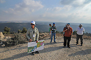 University students on a field trip in the Judean Hills, Near Jerusalem, Israel