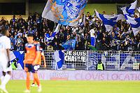 Supporters Marseille - Banderole Hommage Charlie Hedbo - 09.01.2015 - Montpellier / Marseille - 20eme journee de Ligue 1<br />Photo : Nicolas Guyonnet / Icon Sport