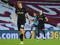 Football - 2020 / 2021 Premier League - Aston Villa vs West Ham United - Villa Park<br /> <br /> West Ham United's Jesse Lingard celebrates scoring his side's second goal.<br /> <br /> COLORSPORT/ASHLEY WESTERN